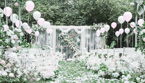 【颜汐婚礼】立即抢订  白绿色户外婚礼+包四大
