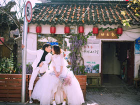 苏格婚纱摄影·韩式+底片全送+10服10造
