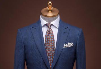 丹特 蓝色大格纹西服套装