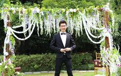 一个女孩草坪婚礼的梦