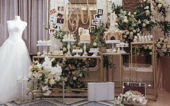 """【晶品甜品台】""""爱浇筑的城堡""""主题婚礼蛋糕"""