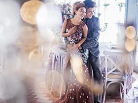 简约海景婚纱照