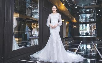 婉纱仙妮品牌-婚纱礼服系列2018新款泡泡袖鱼尾
