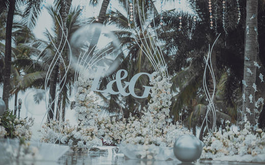 水台池畔婚礼   灰色轻奢风