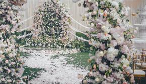 【誓延婚礼】白粉色森林系户外婚礼