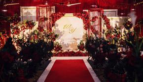 红与金的交织红金主题婚礼(含四大金刚)