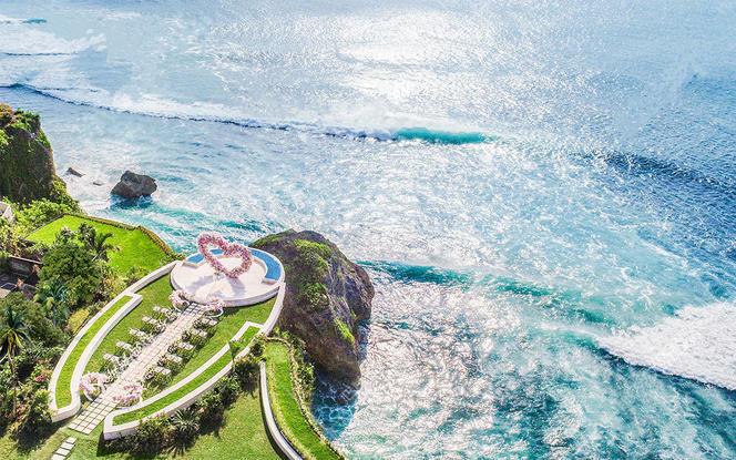 【罗曼斯海外婚礼】巴厘岛婚礼网红款梦幻山庄