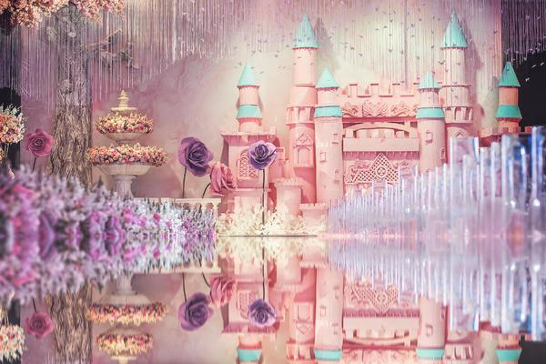 【海豚湾婚礼会馆】-粉色公主风-城堡