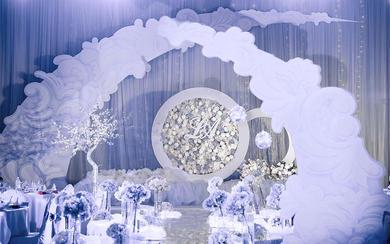 唯美白色系婚礼(真爱一生主题婚礼)