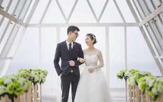 广西北海海景婚纱摄影无边泳池玻璃房小三亚景致
