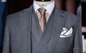 丽诺经典--灰色格纹三件套