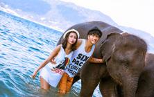 普吉岛旅拍4服4造特色寺庙海边大象礁石任拍