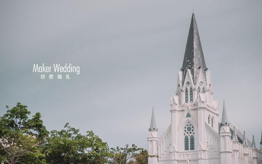 欧式教堂婚礼   白色典雅