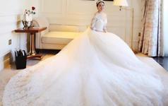 高贵奢华公主水晶珠婚纱仪式纱