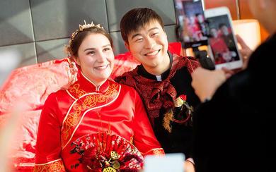 【摩卡婚礼】大红色中式跨国婚礼《花好月圆》