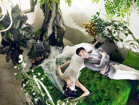 巴黎岛旅拍中式复古婚纱照