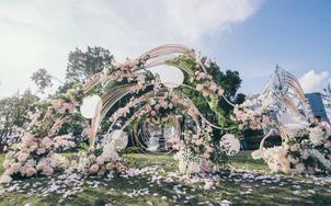 尹麦   【上海香淳湾】粉色小清新草坪婚礼