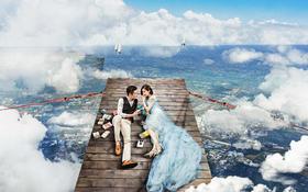 维纳斯《多维空间》系列冬季婚纱照作品