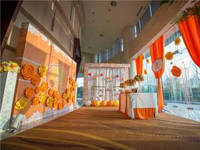 甜蜜橙色系婚礼