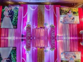 典雅玫红主题婚礼布置