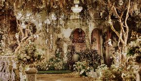 【花漾】送四大&香槟色奢华中式婚礼&城堡造型