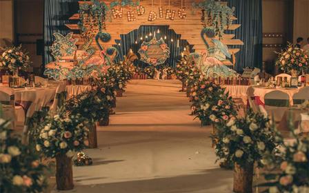 匠心婚礼美学宴会设计;森系小清新主题婚礼《丛容》
