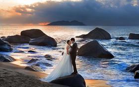 蔚蓝海岸海景系列  海边迎接灿烂的爱情