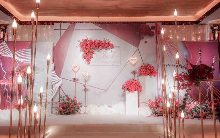 【春芭蕾婚礼会馆】-《相伴》红白金现代时尚婚礼