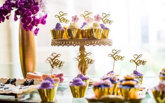 【晶品studio】欧式紫金主题甜品台