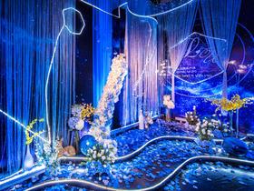 创意蓝色婚礼布置