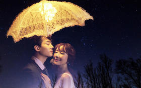 夜空中最亮的星,是你给我的美好爱情