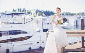 【客片】LaMoon婚纱天津新娘在西雅图的大片