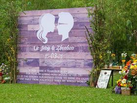 美式乡村风草坪婚礼