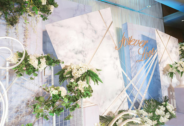【几何图形线条感婚礼布置】