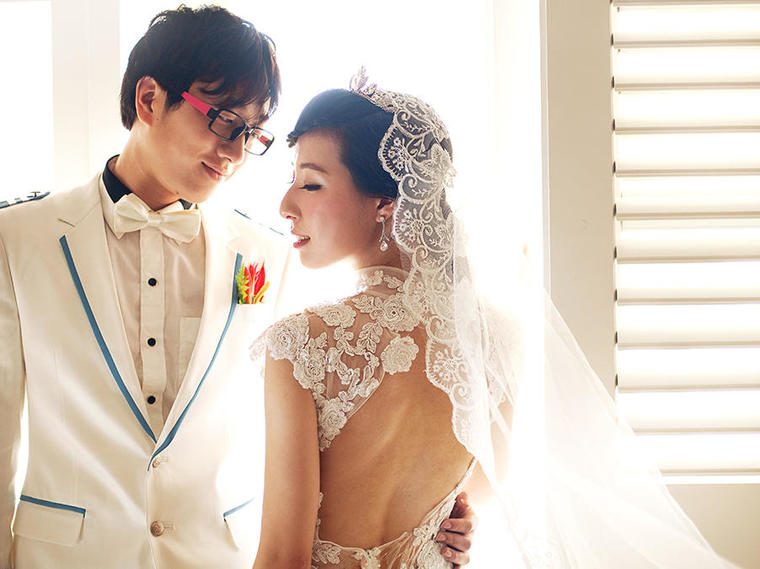 毛里求斯时尚婚纱照--让爱无处不在