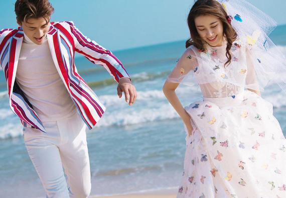 【好评如潮】旅拍婚纱照 5服5造 精修118张
