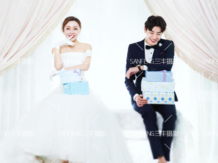 【三丰摄影】价值7999元韩式婚纱摄影,仅售2888
