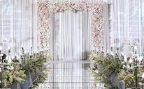 清新婚礼—蔚蓝的天空下在紫色的梦境