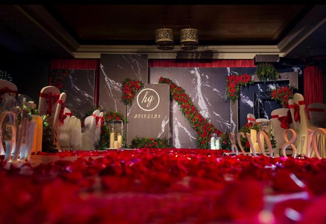 【唯喏婚礼】--红黑大理石