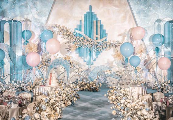 【鲜花布置】+【花车布置】梦幻蓝色系注册送28体验金的游戏平台