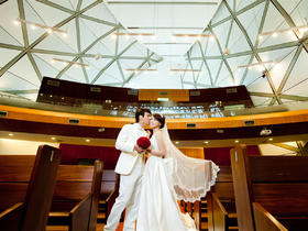 七彩玫瑰台湾旅拍 爱的见证 淡水宜兰教堂唯美婚纱摄影