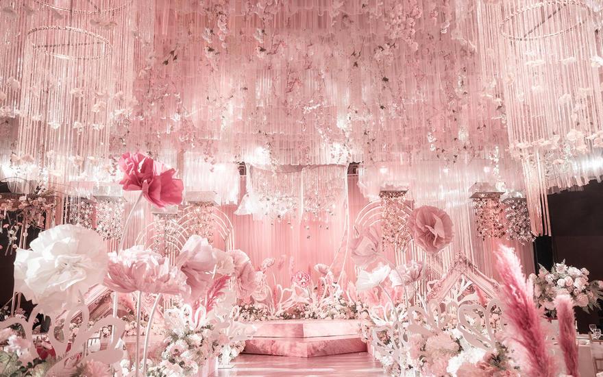 【喜相逢】唯美粉色花海婚礼纯净少女心