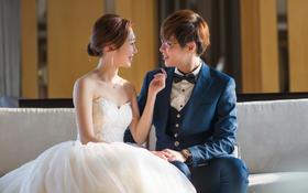 新加坡洁凌夫妇婚礼婚纱定制西装定做厦门婚纱店新娘