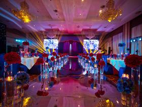 【非凡作品】美式红加宝蓝复古风撞色策划婚礼