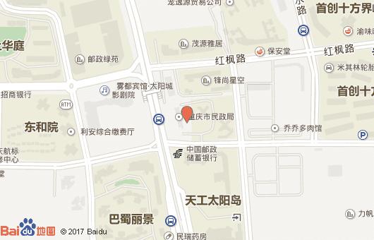 重庆市民政局地图