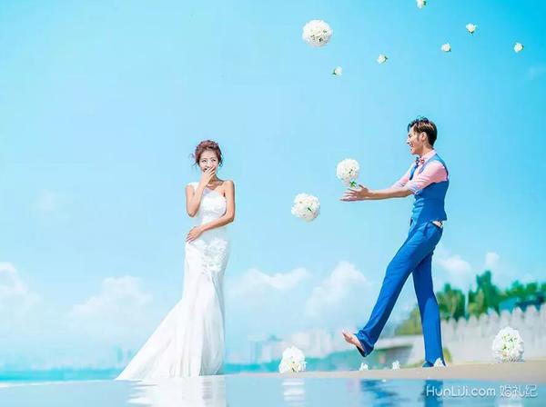 海景风婚纱照