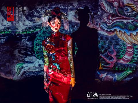 全新婚礼服《琉璃》系列旗袍锦棠