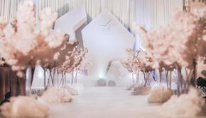 《幻梦》简约唯美裸马卡龙粉色婚礼