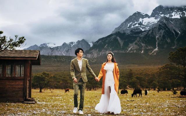 【奢邦婚纱摄影】雪山下的爱情
