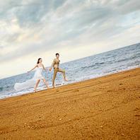 【双外景】沙滩大海+唯美外景+华丽内景韩式婚纱照